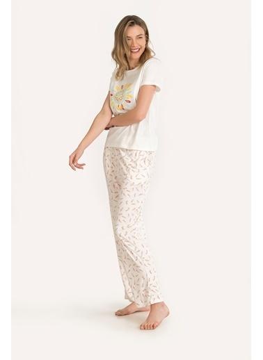 Nbb Pijama Takım Ekru